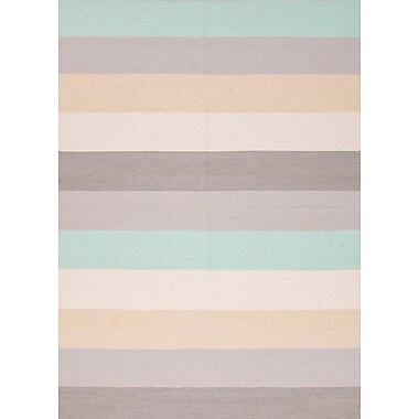 Jaipur Stripe Area Rug Wool, 3.6' x 5.6'