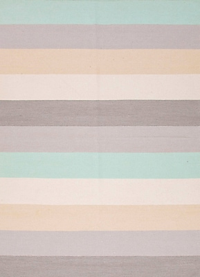 Jaipur Stripe Area Rug Wool, 8' x 5'