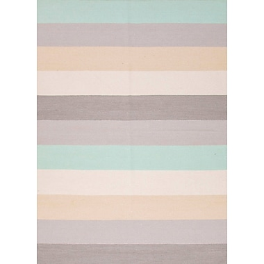 Jaipur Stripe Area Rug Wool, 8' x 10'