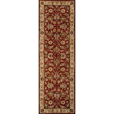 Jaipur Mythos Red Oxide & Sand Area Rug Wool, 3' x 12'