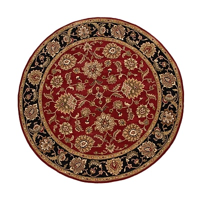 Jaipur Mythos Red & Ebony Oriental Area Rug Wool 8' x 8'