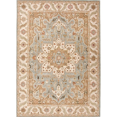 Jaipur Poeme Blue Surf & Cloud White Oriental Area Rug Wool 5' x 8'