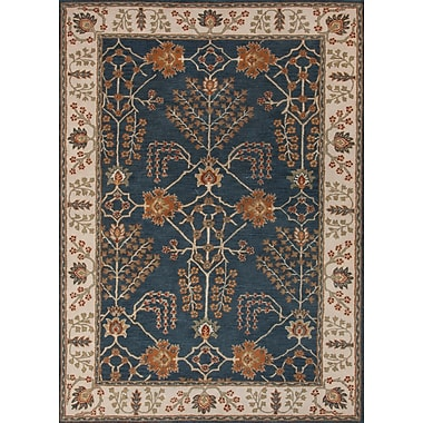 Jaipur Hand-Tufted Arts and Craft Pattern Area Rug Wool, 2' x 3'