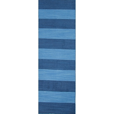 Jaipur Pura Vida Evening blue & Bermuda blue Area Rug Wool 2'6