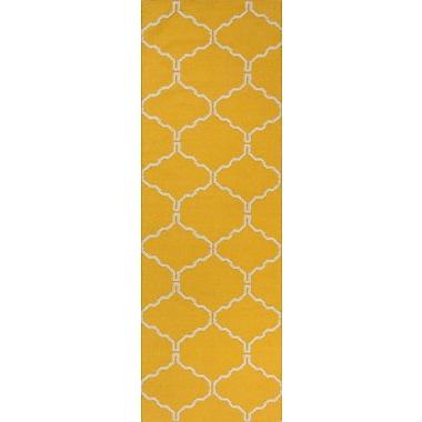 Jaipur Area Rug Wool, Mango, 2.6' x 8'