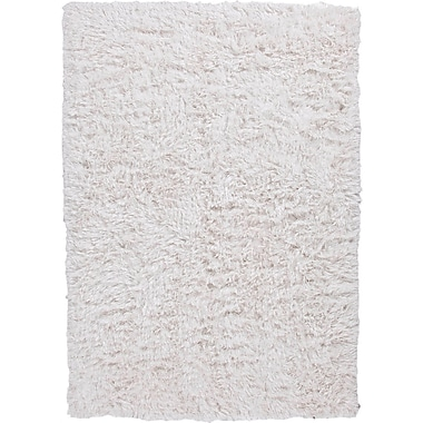 Jaipur Verve White Solid Rug Polyester, 5' x 8'