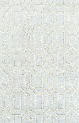 Jaipur Hand Tufted Pattern Contemporary Area Rug Wool & Art Silk, 5' x 8'
