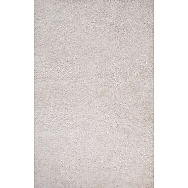 Jaipur Flux Solid Area Rug Polyester, White, 5' x 7.6'