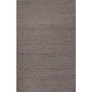 Jaipur Rectangle Rug Wool & Hemp, 5' x 8' Gray & Ebony Slate