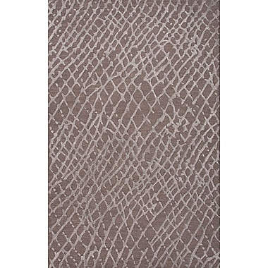 Jaipur Tone-on-Tone Area Rug 70% Wool 30% Art Silk, 5' x 8'