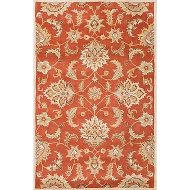 Jaipur Mythos Orange Area Rug Wool, 5' x 8'