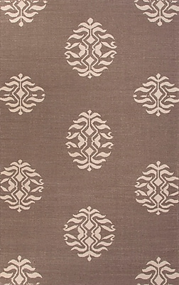 Jaipur Flat-Weave Tribal Pattern Rug Wool, 5' x 8'