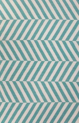 Jaipur Flat-Weave Stripe Pattern Area Rug Wool, 8' x 5'