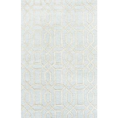 Jaipur Hand Tufted Pattern Contemporary Area Rug Wool & Art Silk, 2' x 3'