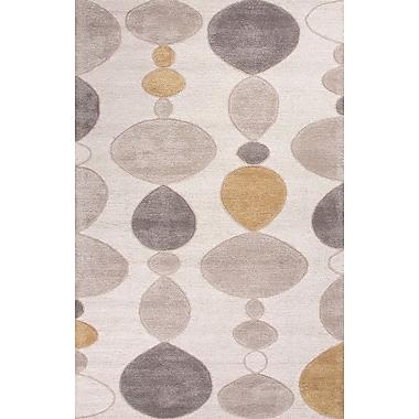 Jaipur Hand-Tufted Durable Creekstone Rectangle Rug Wool & Art Silk, 8' x 10'