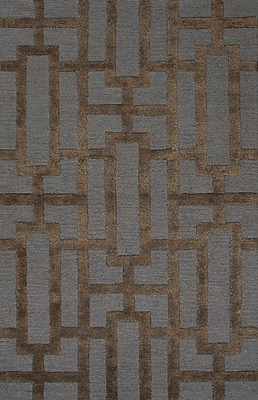 Jaipur Geometric Area Rug Wool & Art Silk, 3' x 2'