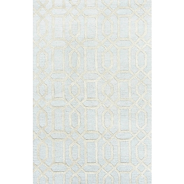 Jaipur Hand Tufted Pattern Contemporary Area Rug Wool & Art Silk, 3.6' x 5.6'