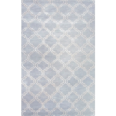 Jaipur Hampton Rectangle Rug Wool & Silk 8' x 11', Sky Blue