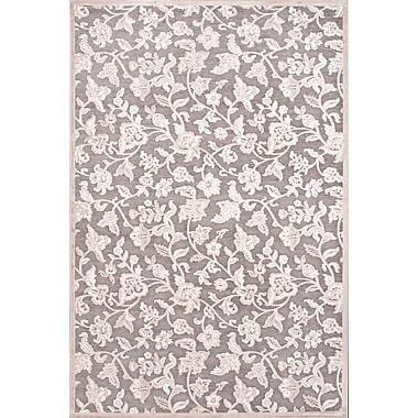 Jaipur Rectangle Area Rug Art Silk & Chenille 2' x 3', Gray