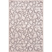 Jaipur Rectangle Area Rug Art Silk & Chenille 3' x 2', Gray