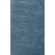 Jaipur Solid Rug Wool & Art Silk 5.6' x 3.6', Aegean Blue