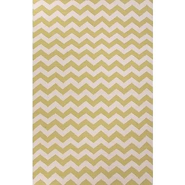 Jaipur Maroc Wild Lime & White Geometric Area Rug Wool, 2' x 3'