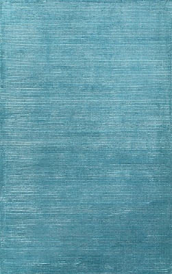 Jaipur Basis Area Rug Wool & Art Silk 9' x 12', Deep Turquoise