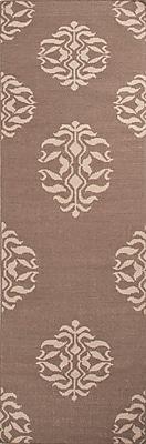 Jaipur Flat-Weave Tribal Pattern Rug Wool, 2.5' x 8'