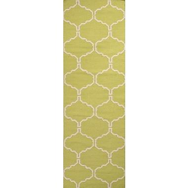 Jaipur Flat Weave Moroccan Pattern Area Rug Wool, 2'6