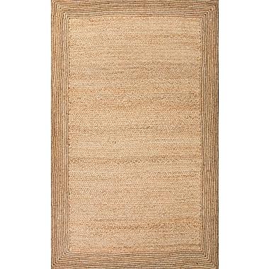 Jaipur Naturals Textured Rectangle Area Rug Jute, 2' x 3'