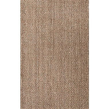 Jaipur Solid Pattern Hand Made Area Rug Jute 2' x 3'