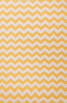 Jaipur Yellow Area Rug Wool, 3' x 2'