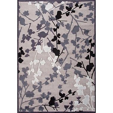 Jaipur Machine Made Floral Pattern Area Rug Art Silk & Chenille