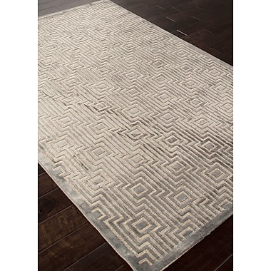 Jaipur Geometric Pattern Area Rug Art Silk & Chenille, 9' x 12'