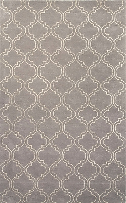 Jaipur Baroque Gray & Ivory Geometric Area Rug Wool & Art Silk, 11' x 8'