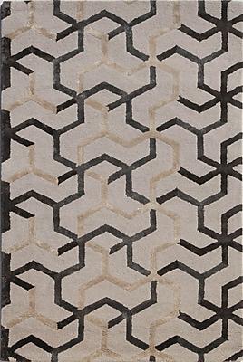 Jaipur Blue Area Rug Wool & Art Silk, 3.5' x 5.5'