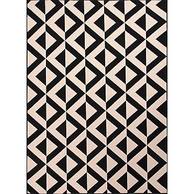 Jaipur Area Rug Polypropylene 7.11' x 10', Black & Ivory