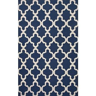 Jaipur Maroc Navy Area Rug Wool, 2' x 3'