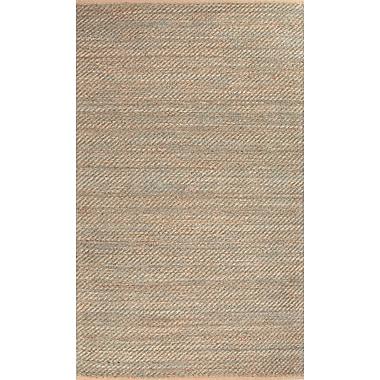 Jaipur Diagonal Weave Solid Area Rug Jute & Rayon, 5' x 8'