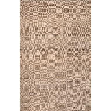 Jaipur Area Rug Wool & Hemp 2' x 3', White & Tan