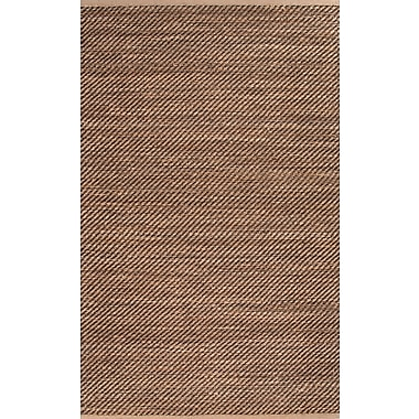 Jaipur Diagonal Weave Area Rug Jute & Rayon, 2.6' x 4'