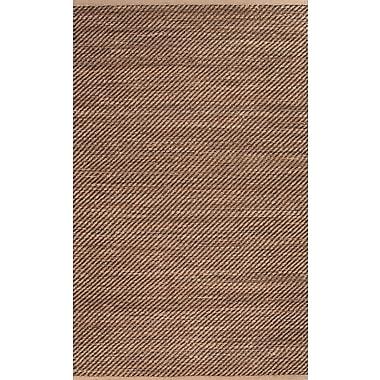 Jaipur Diagonal Weave Area Rug Jute & Rayon, 8' x 10'