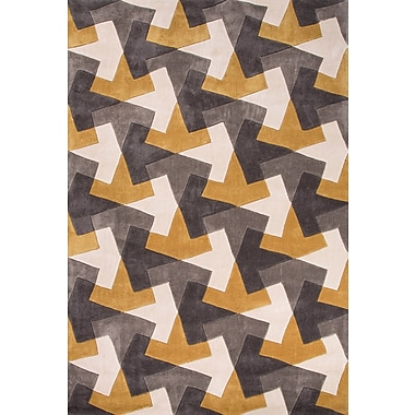 Jaipur Hand-Tufted Geometric Pattern Polyester, 5x7.6
