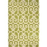 Jaipur Barcelona Hand Made Area Rug Polypropylene 5' x 7.6', Green & White