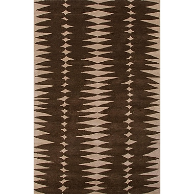 Jaipur Area Rug Wool 5' x 8', Java & Linen
