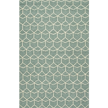 Jaipur Area Rug Polypropylene, 5' x 7.6' Blue & White