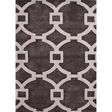 Jaipur Geometric Pattern Square Area Rug Wool & Art Silk 6' x 6'