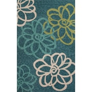 Jaipur Indoor / Outdoor Area Rug Polyester 7.6' x 5', Blue