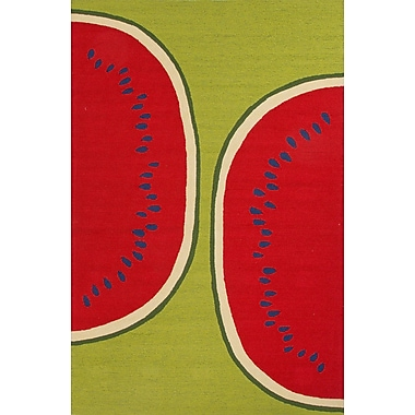Jaipur Watermelon Rectangle Area Rug Polypropylene, 2' x 3'