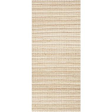 Jaipur Solid Area Rug Cotton & Jute, 2.6' x 9'
